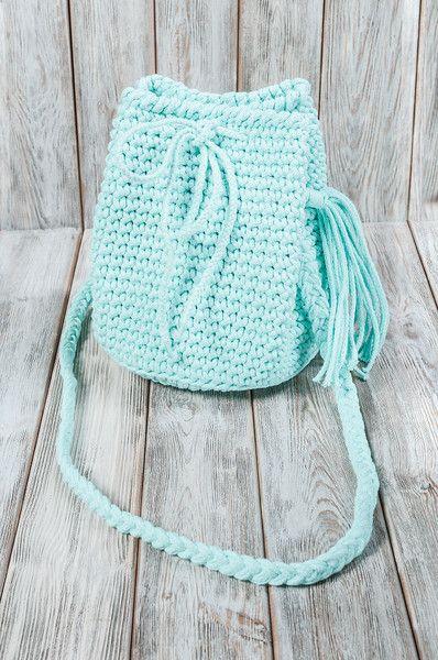 Handtasche - Torebka-plecak 2w1 w kolorze miętowym - ein Designerstück von Mayalove- bei DaWanda