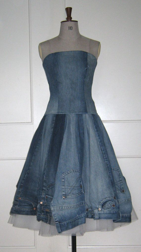 inspiration for upcycling old jeans, unique and fun