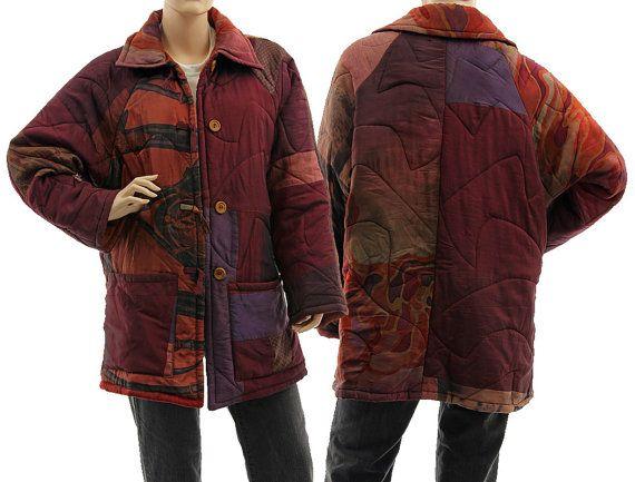 Boho silk jacket lightweight patchwork silk jacket von classydress