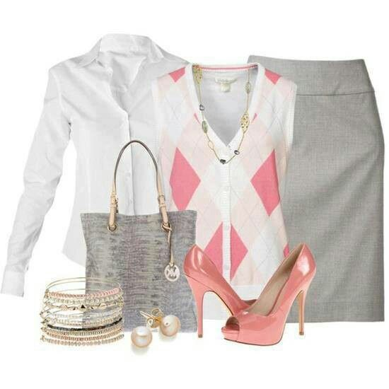 Touch of pink with grey