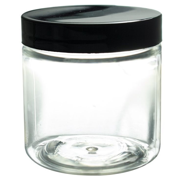 Amazon.com: 4 oz Clear Plastic PET (BPA Free) Travel Jar with Black Smooth Lid- (6 Pack) + Spatulas and Labels: Industrial & Scientific