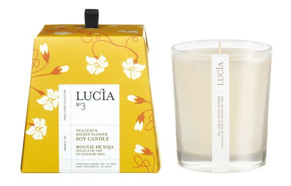LUCIA NO. 3 TEA LEAF & HONEY FLOWER SOY CANDLE  $22.99
