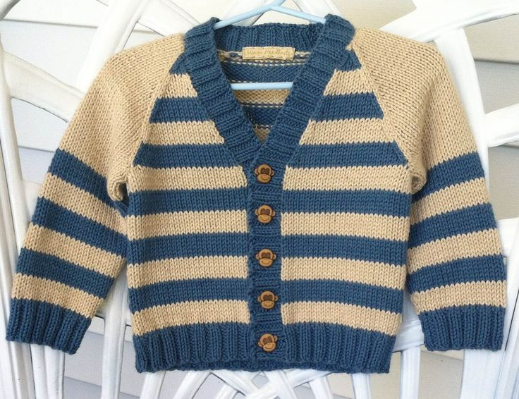 Cutest child's sweater with monkey buttons!