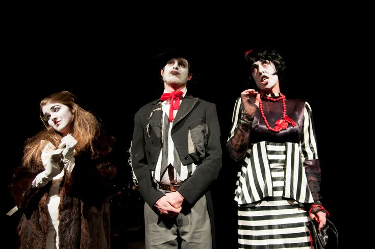 Polly, Mr and Mrs Peachum - 'The Threepenny Opera' by Bertolt Brecht, produced by Felt Tip Theatre Company