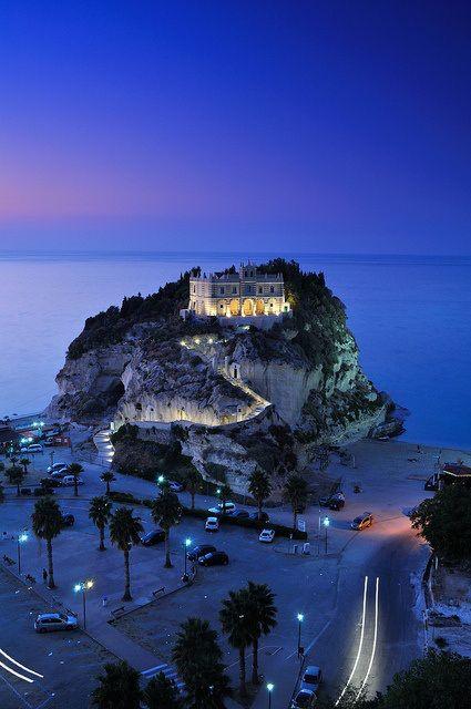 Night in Tropea, Calabria, Italy.