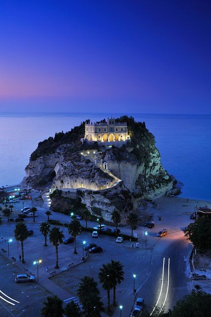 Night in Tropea, Calabria, Italy.