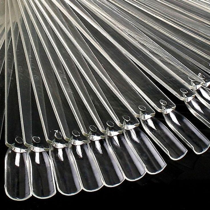 50 Unidades Fan Rueda Polaco Práctica Punta Sticks Diseño Decoración Set Falso Nail Art Nueva