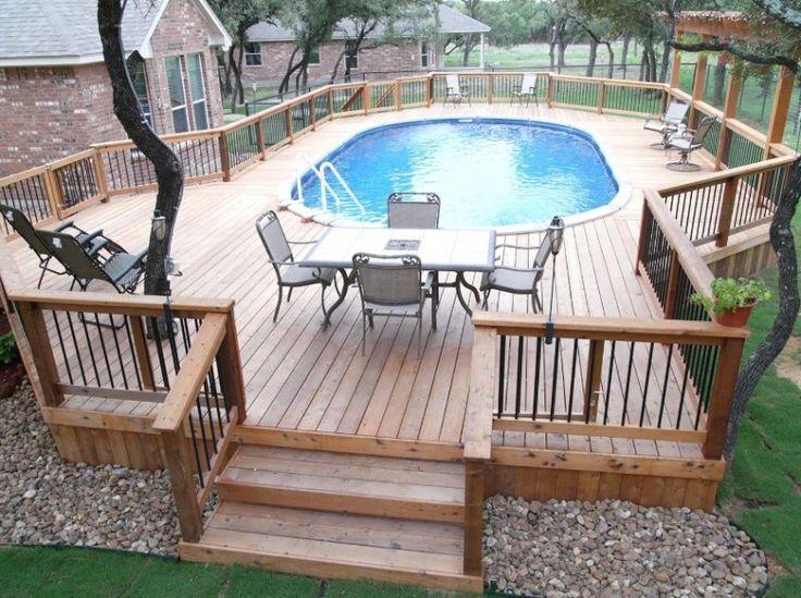 amazing above ground pools decks ideas