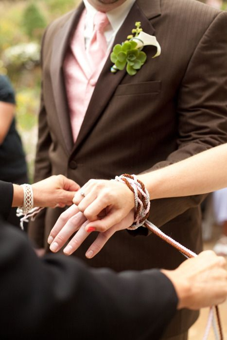 Handfasting Literally Quot Tying The Knot Quot An Ancient Celtic Ceremony Of Temporary Or