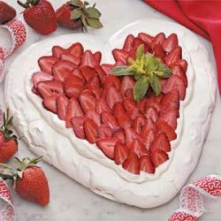 Heart shaped pavlova