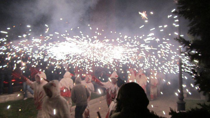 street fireworks, Palma de Mallorca