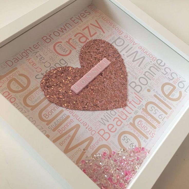 Personalised Wordart Glitter Frame