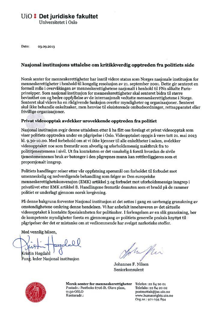NCHR – Full Statement