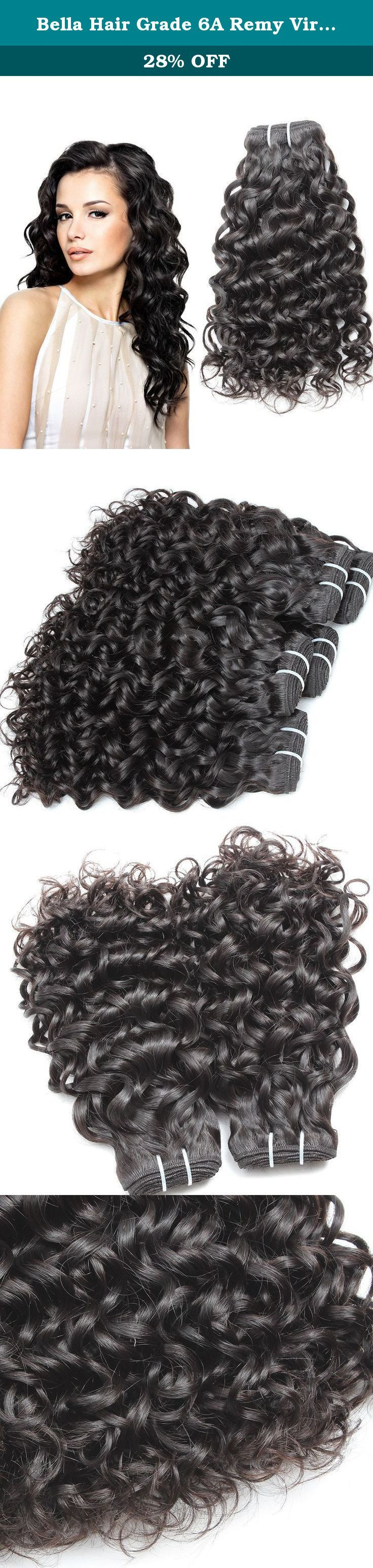 """Bella Hair Grade 6A Remy Virgin Hair Brazilian Water Wave Weave Hair 1 Bundles 20"""" Human Hair Extensions Natural Color. Brazilian Water Wave Hair Extensions 1) Material: 100% virgin human hair , unprocessed natural hair with no chemical process, No Acid! No Dye! 100% Real Human Hair. 2) Hair Textures: Water Wave Hair 3) Hair Type : Hair Extensions 4) Quality: Grade AAAAAA, No shedding, No tangle, No lice, intact cuticle, long lifetime 5) Length: 20 inch, 100% ture to the length 6) Color:..."""