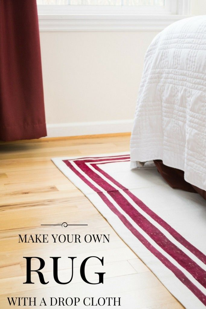 Make your own rug with a drop cloth and fabric paint! It's easy to customize your rug to fit your decor. See the tutorial at The Handyman's Daughter! | drop cloth project | drop cloth rug | drop cloth area rug | make your own area rug | paint your rug