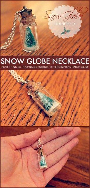 DIY Snow Globe Necklace