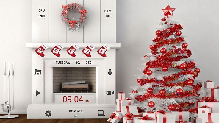Christmas Widget For Rainmeter  #cleodesktop Download http://www.cleodesktop.com/2014/12/christmas-widget-for-rainmeter.html