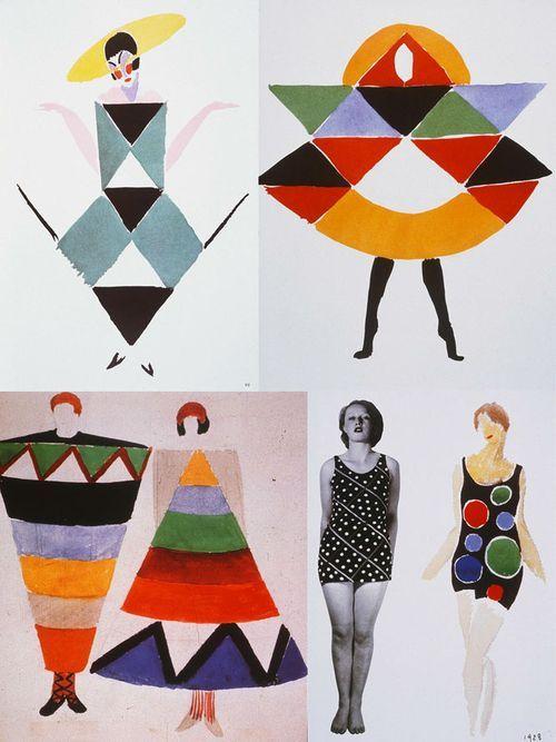 Sonia Delaunay nổi tiếng với trường phái Orphism do bà cùng chồng sáng lập dựa trên sử dụng những hình khối cơ bản và những màu sắc đối lập nhau