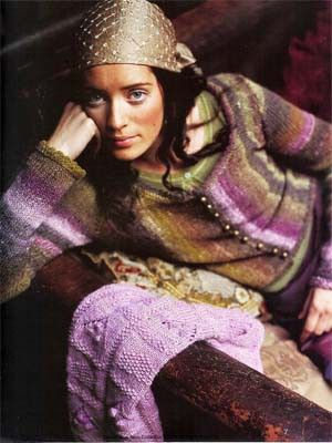 Silk Garden Scoop Neck Cardigan | Knitting Fever Yarns & Euro Yarns