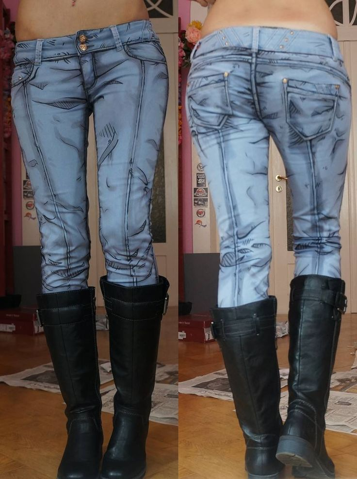 These comic-book jeans are real and totally awesome -- Very amazing work on these jeans