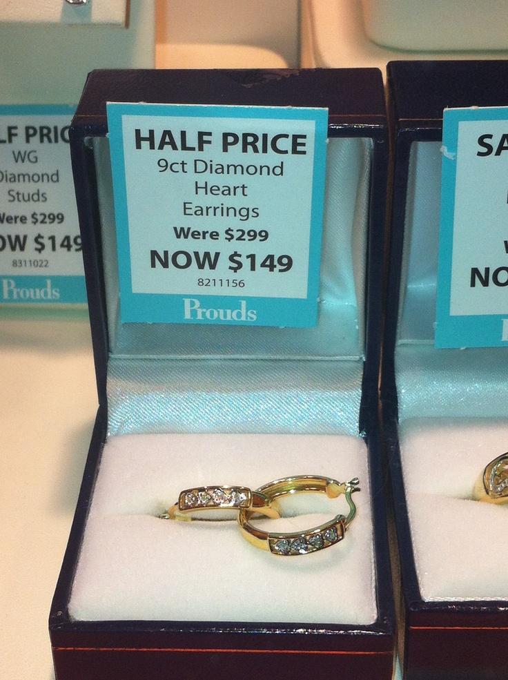 Kait, Prouds.  Diamond heart earrings, $299.00