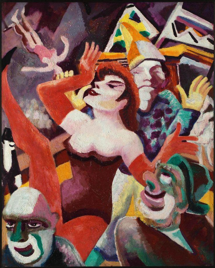 -Zirkus, c. 1927 by Fritz Schaefler (German 1888-1954)