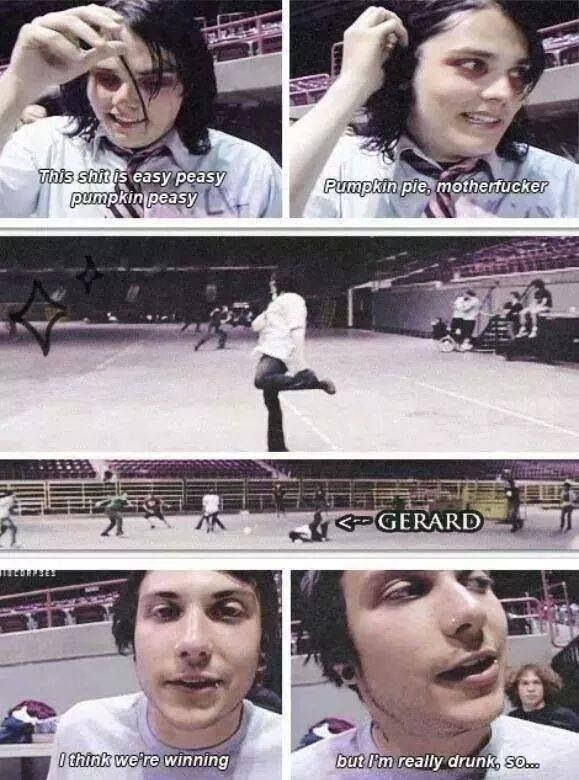 These video stills from MCR Life on the Murder Scene are kinda sad bc they're about Gerard's alcoholism.