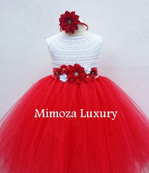 Navidad vestido de traje vestido de Santa rojo por MimozaLuxury