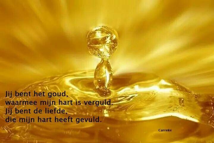 Jij bent het goud ...