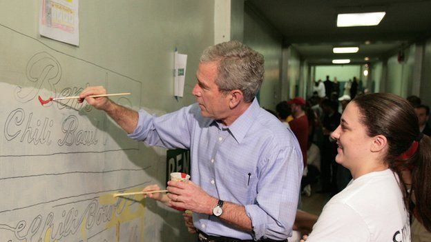 The Former U.S President George W Bush has become the artist.