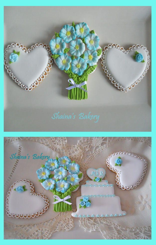 Turquoise Bridal Shower Cookies | Cookie Connection