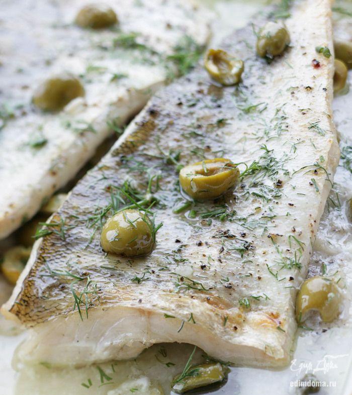 Рыба, запеченная с оливками и каперсами - видеорецепт   Кулинарные рецепты от «Едим дома!»