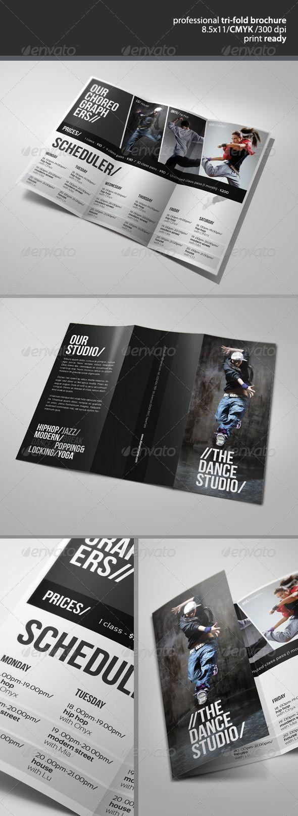 Dance Studio Brochure 2  - GraphicRiver Item for Sale