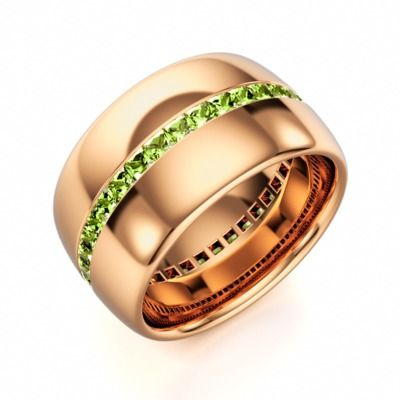Eternity Ring in Rose Gold with Peridot