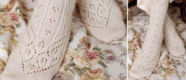 Lace socks pattern