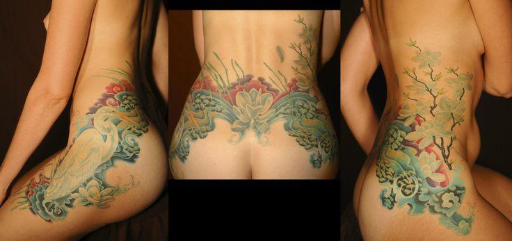 tattoo hub tattoo hubtattoo austin tattoo artist michael norris tattoo shop mosaic lotus grass hips sides   Flickr - Photo Sharing!