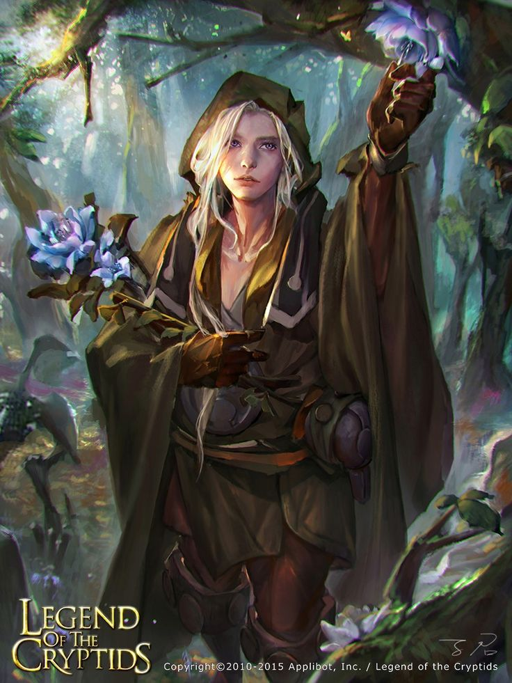 Artist: Unknown name aka zinnaDu - Title: Unknown - Card: Blossom Cleric Efrem                                                                                                                                                                                 More