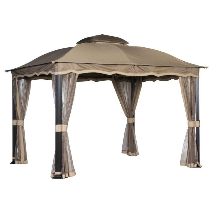 Hampton Bay Callaway 12 ft. x 10 ft. Roof Style Domed Garden House Replacement Canopy
