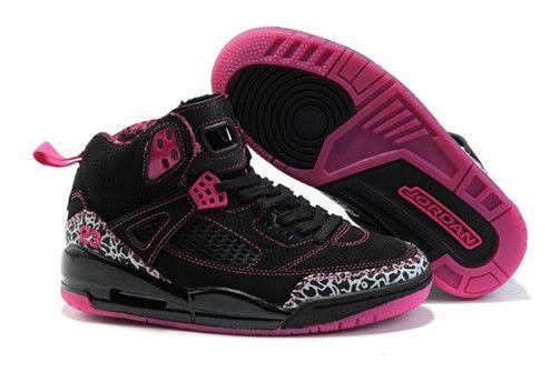 Cheap Spizike Nike Air Jordan 3.5 Retro Black Pink Womens Shoes Online Outlet