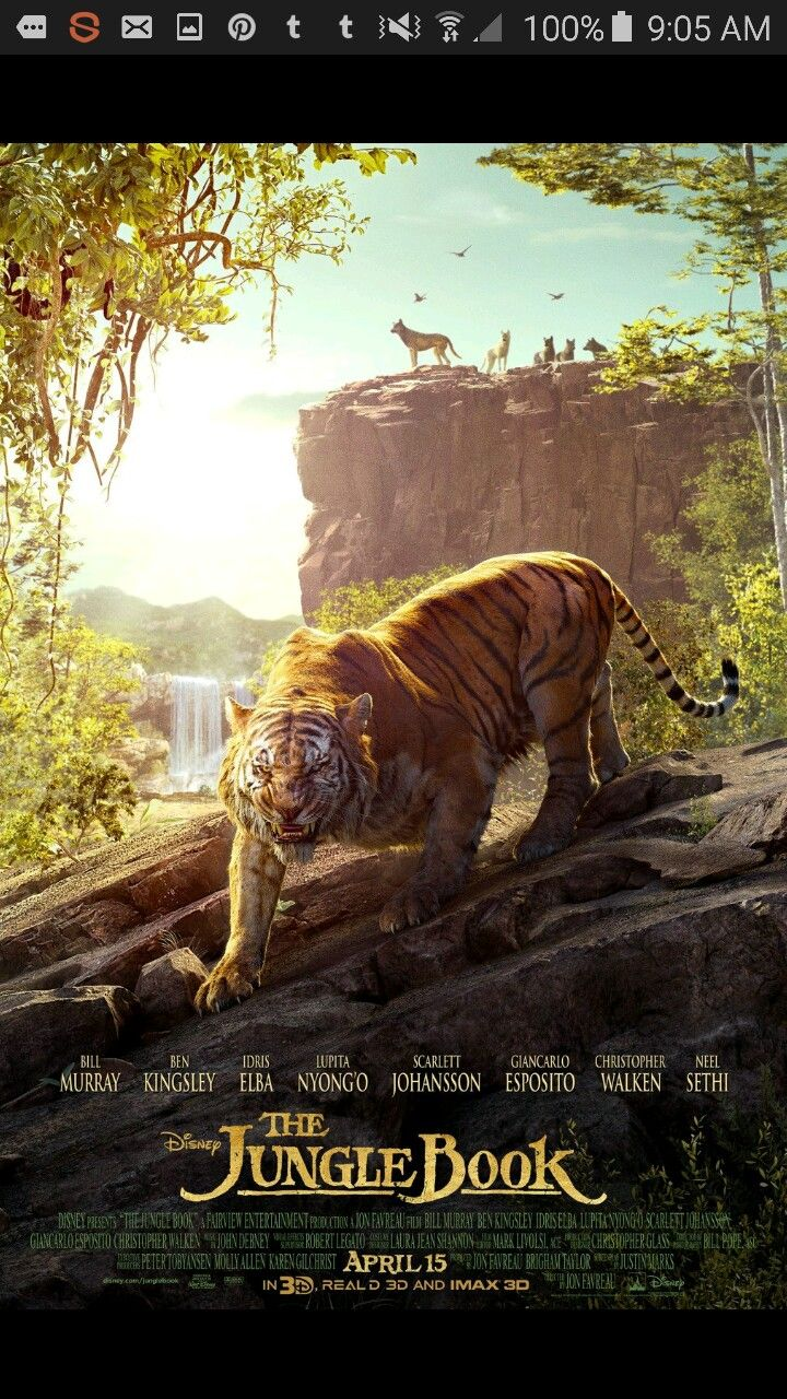 Face the eye of the tiger in the jungle book opening april