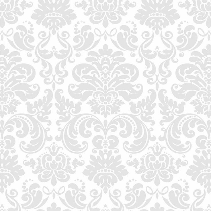 Papel de parede clássico em cores cinza e branco - PA8583