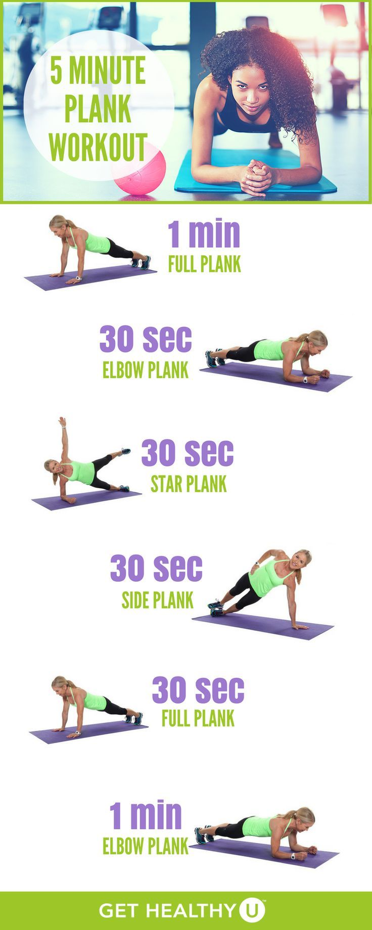 Try this 5 minute plank workout to strengthen up y…