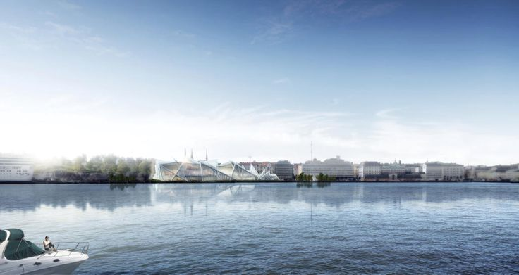 The view from the Baltic City for the museum of Guggenheim in Helsinki by TheeAe LTD