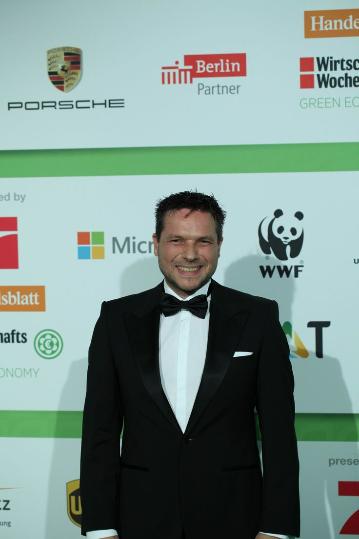 Sven Kruger - ECONYL® at the GreenTec Awards 2015 in Berlin. The Green Carpet was made by Vorwerk using ECONYL® regenerated yarn coming from fishing nets, old carpets and other pre-consumer waste. At the event we had also a photo booth with funny props inspired by our regeneration of carpets, nets and by the marine world we are fighting to save. #ethical #fashion and #design#sustainability