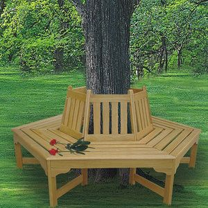 Wrap around tree bench... Good Idea for the back yard (it even has good reviews...)