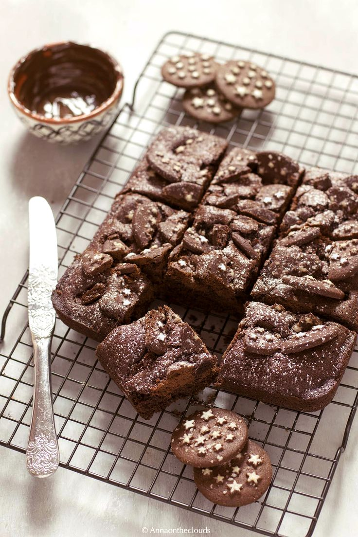 Ricetta brownies di pan di stelle | Anna On The Clouds