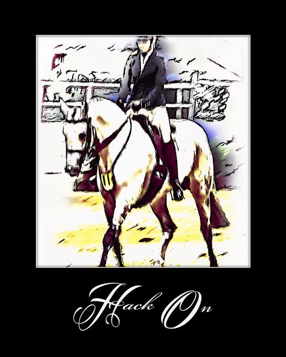 Hack On - I ride, therefore I am. inspirational wall art to brighten your home or office.