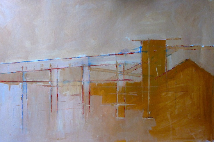 "steven heffer; Oil, 2013, Painting ""cement works III 2013"""