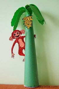 Monkey tree, template pattern and instructions included.