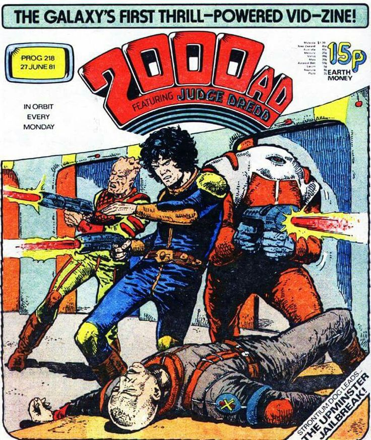 CLASSIC COVER: Strontium Dog by Carlos Ezquerra for 2000 AD Prog 218 (27th June, 1981)